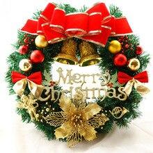 Christmas-Ornament Garland Arrangement Wreath Window-Decorative Pine Bow Berries Cones
