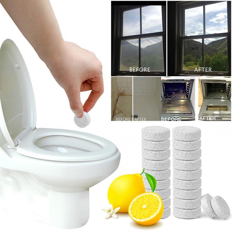 100 шт. (1 шт. = 4л воды) Многофункциональный распылительный концентрат очиститель для домашнего туалета Чистка таблеток очистка пятна