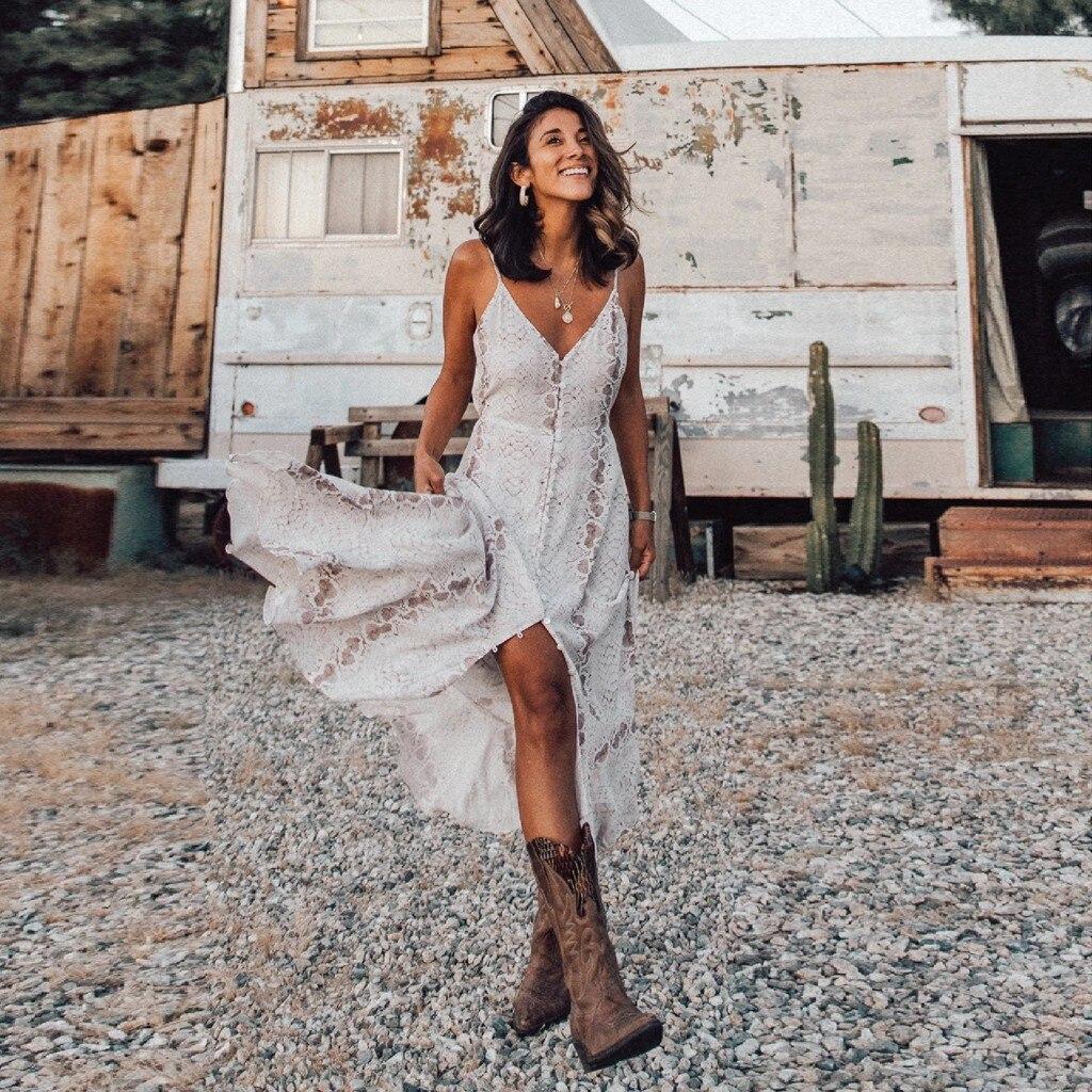 Dress Women Boho Long Maxi Dress