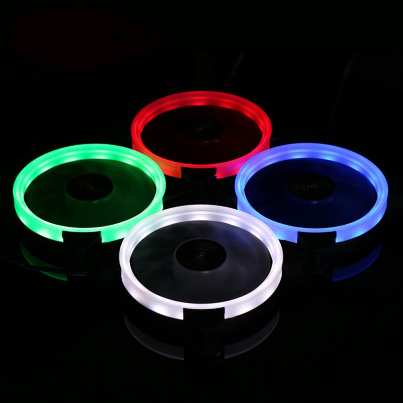 Computer 120mm LED Fan <font><b>120</b></font> MM Fan Ring Guide Light Blue Red Green Promotion image