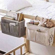 Portable Baby Care Essentials Hanging Organizers Crib Storage Cradle Baby Crib Organizer Diaper Bag Linen Baby Bed Accessories