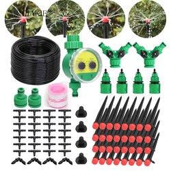 MUCIAKIE 5M-50M ogród regulowany Drip podlewanie zestawy DIY automatyczne z mikrootworami System nawadniania złącze kranu 4/7mm wąż PVC Tee