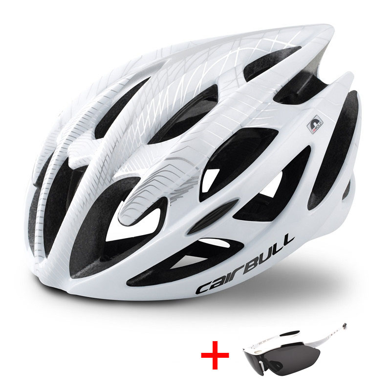 Ultralight Mountain Bike Road Bike Helmet with Sunglasses Men Women Riding Cycling Safety Helmet In-mold DH MTB Bicycle Helmet