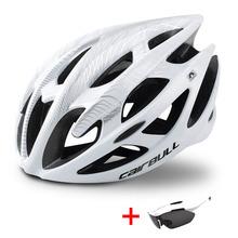 Ultralight Mountain Bike kask rowerowy z okularami przeciwsłonecznymi mężczyźni kobiety jazda na rowerze hełm ochronny w formie DH kask do roweru górskiego tanie tanio (Dorośli) mężczyzn CN (pochodzenie) M 195g L 225g 20 Formowane integralnie kask Cairbull-01 Unisex