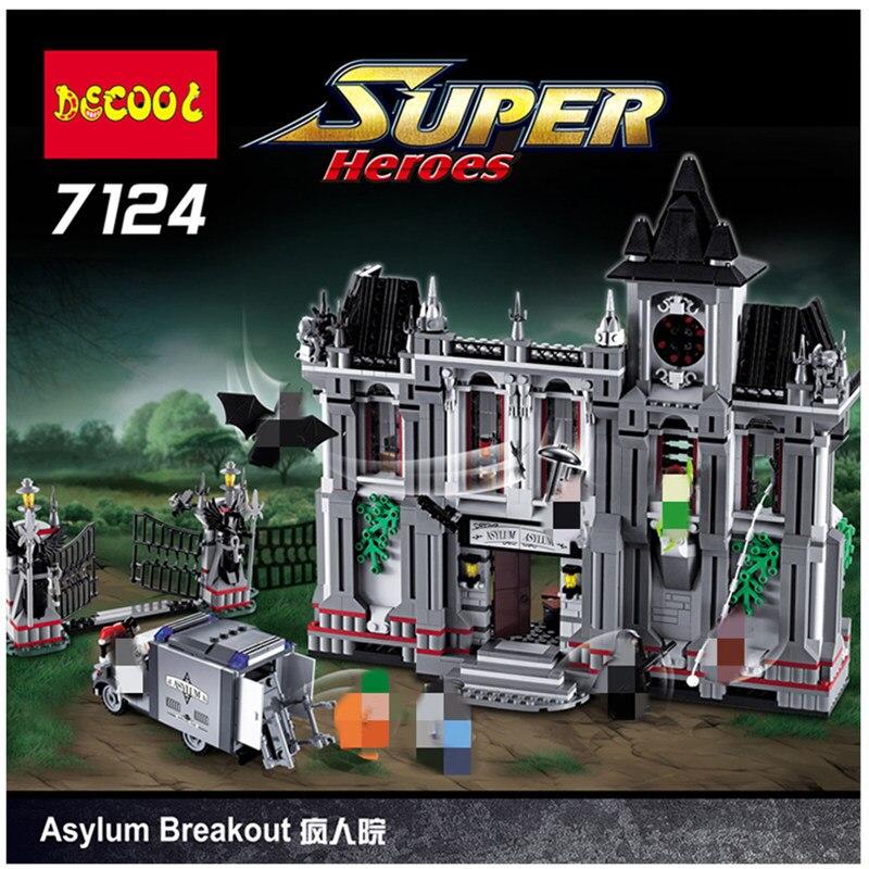 DHL Halloween remise spéciale 7124 Super héros l'arkham asile évasion modèle bloc de construction 10937 16007 noël cadeau jouets