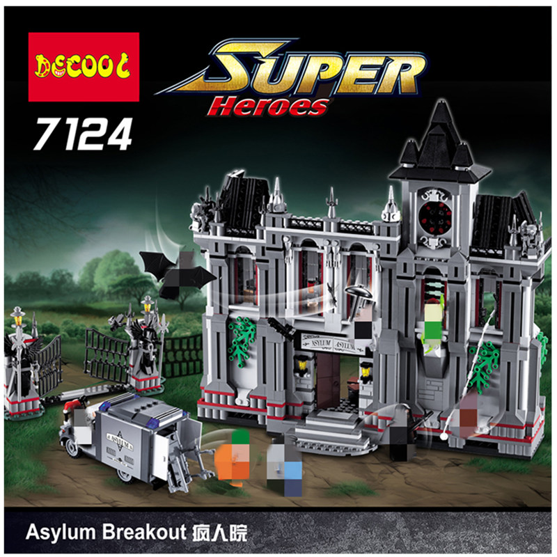 DHL Halloween special discount 7124 Super Heroes the Arkham Asylum Breakout Model Building Block 10937 16007 Christmas gift Toys Blocks    - title=