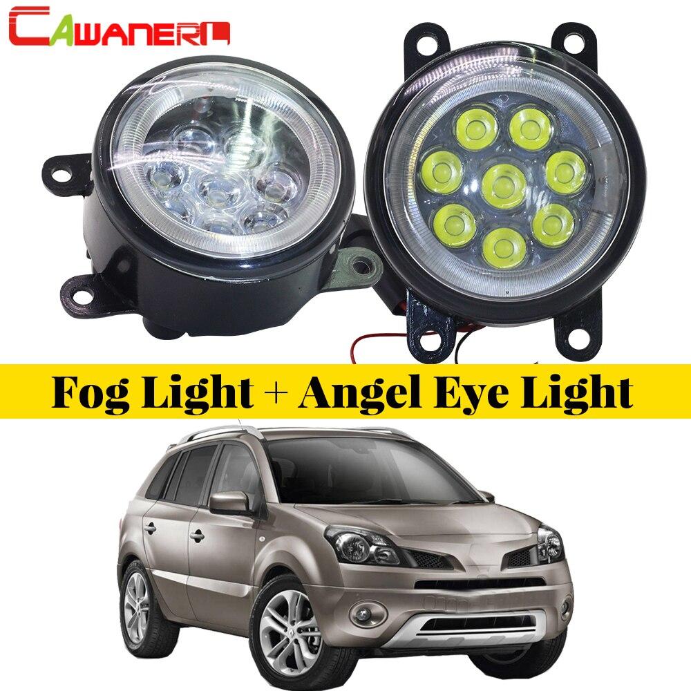 Cawanerl 2 X Автомобильный светодиодный противотуманный светильник, дневный ходовой светильник, DRL для Renault Koleos HY, закрытый внедорожный автомоби