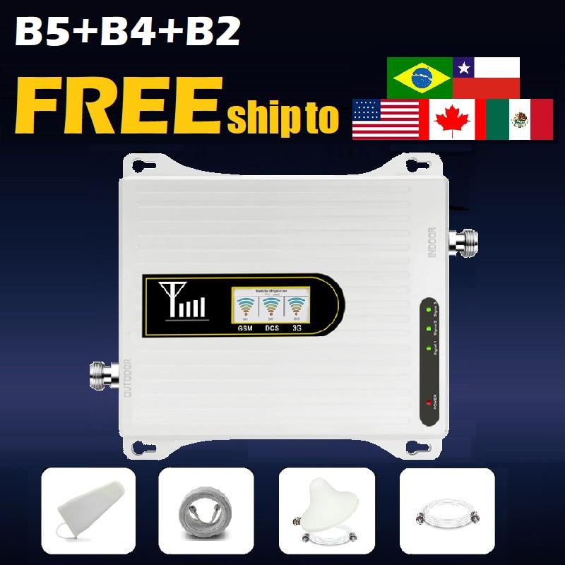B5 b4 b2 celular amplificador de sinal impulsionador repetidor 850 1700 1900 mhz dominica honduras panamá digicel cal claro tigo movistar