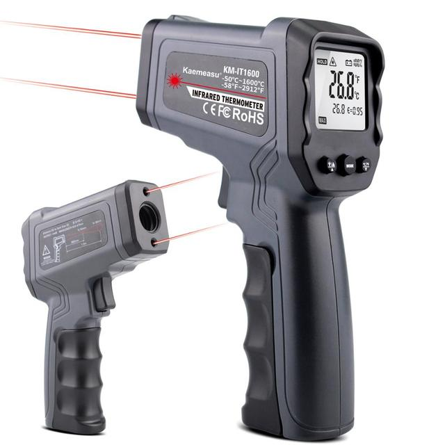 Non contact Infrared Thermometer  50~550/750/1100/1300/1600 degree Max/Min/Dif/Avg Measurement Industrial high temperature Gun