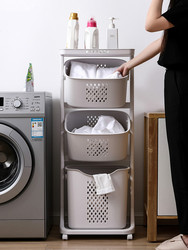 Cesta de ropa sucia cesto de almacenaje de ropa sucia baño estante de carrito cesta de lavandería cesta de almacenamiento LM7171152