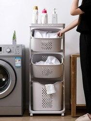 Cesta de roupas sujas do agregado familiar roupas sujas cesta de armazenamento carrinho de banheiro rack cesta de lavanderia balde de armazenamento cesta lm7171152