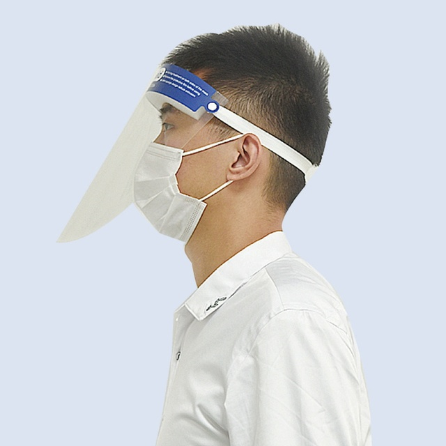 2pcs Anti Virus Full Covering Face Shield Anti Droplet Saliva Mask Facial Protective Mask Hat Eyes Protection Adjustable Visor 2