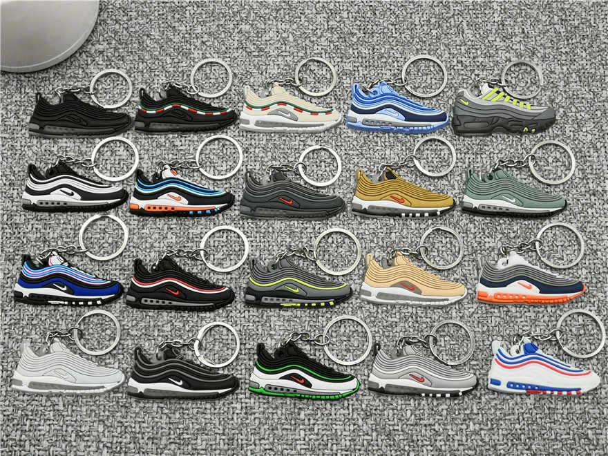 Mới Dễ Thương Mini Silicone Giày Móc Khóa Người Phụ Nữ Túi Charm Max 97 Dành Cho Nam Trẻ Em Móc Khóa Quà Tặng Giày Sneaker Phụ Kiện Không Khí giày Dây Chuyền Chìa Khóa