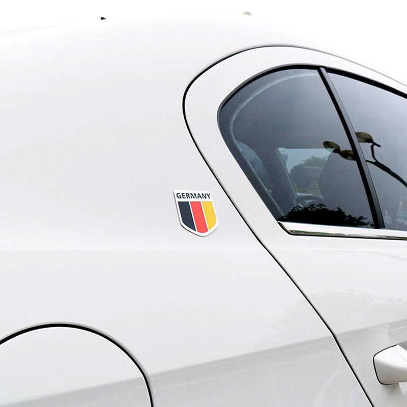 Deutsch naklejki samochodowe metalowe 3D naklejka kratka zderzak okno dekoracja ciała niemcy flaga niemiecka odznaka godło