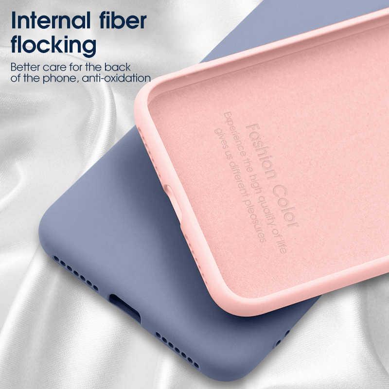 Silicone líquido macio caso do telefone para o iphone 11 2019 11pro matte magro voltar capa protetora completa para o iphone 11 pro max funda