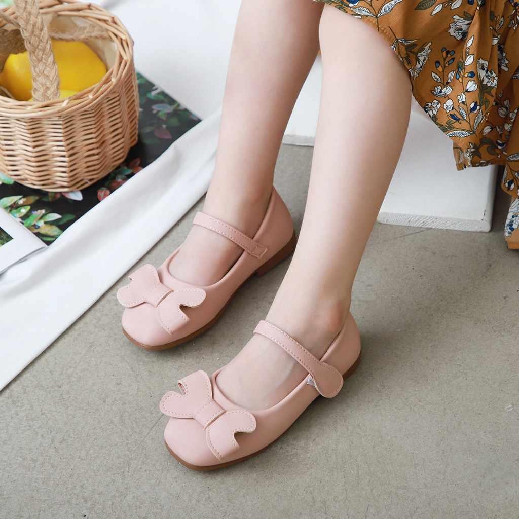 Wiosna jesień dzieci księżniczka skórzane buty dla dziewczynek dzieci dziewczyna buty ślubne różowy biały czarny korona cekiny dziewczynka obuwie