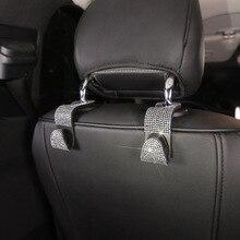 1Pcs Car Seat Hook Auto Coat Back Universal Headrest Mount Storage Holder Bling Rhinestones Hanger Car Interior Accessories