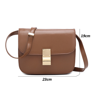 Image 5 - Vintage Women Shoulder Bags Designer Chic Flap Female Crossbody Bag Luxury Pu Leather Messenger Bags Fashion Lady Small Purses