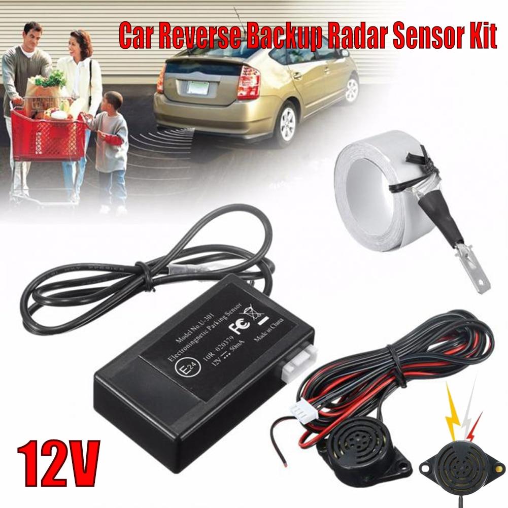 12V Electromagnetic Car Truck Parking Reversing Reverse Backup Radar Sensor Kit