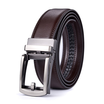 GOURS Men s Genuine Leather Belt Soft Black Cowskin Luxury Waistband Business Automatic Buckle Belts High Quality Strap GPDM016