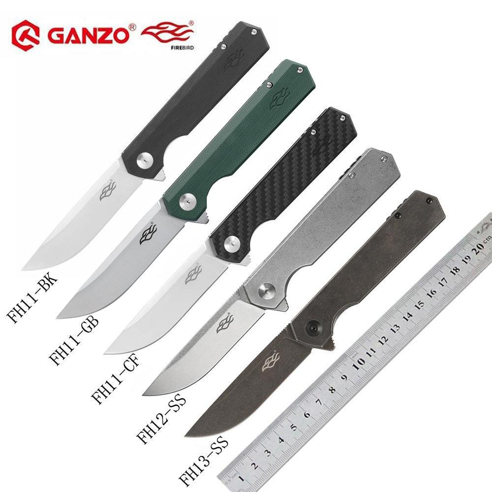 Ganzo Firebird FH11 FH12-SS FH12 FH13-SS FH13 60HRC D2 blade G10 or Carbon Fiber Handle Folding knife outdoor Survival tool