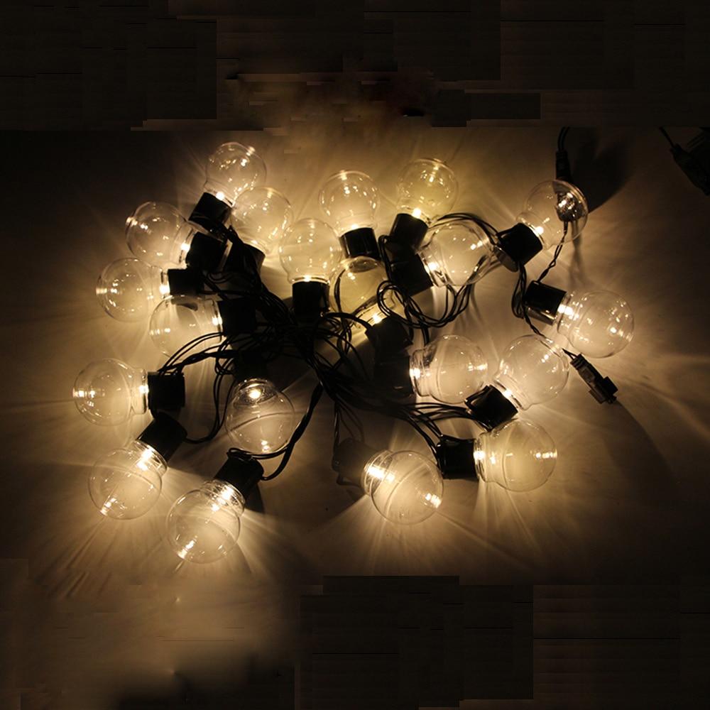 Image 5 - 10m 38 led globe bulb string fairy light christmas light G45 5m 10m wedding party led fairy string light festoon garland outdoor-in LED String from Lights & Lighting