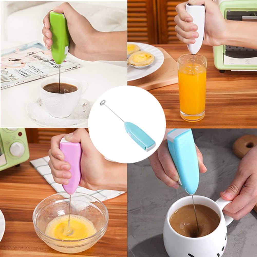 Handheld Casa Cozinha Batedor de Ovo elétrico Mini Ovo de Aço Inoxidável Café Chá Mixer de Cozinha ferramenta acessórios