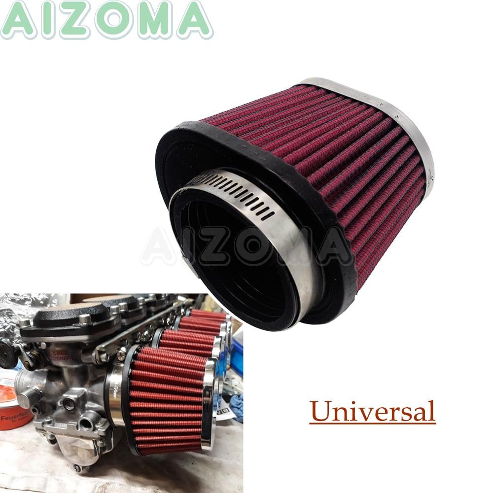 28mm Black Chrome Cone Mesh Intake Air Filter w// Adaptors Clamp For TaoTao Honda