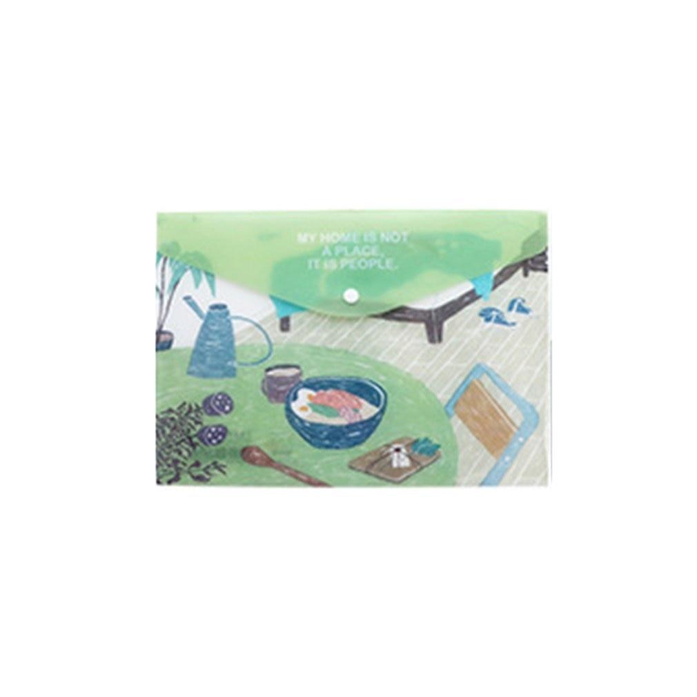 Cute Cartoon A4 Plastic File Bag Folder Student Stationery Test Bag Information Bag Forest Hut