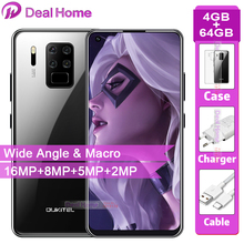 OUKITEL C18 Pro 6.55″ HD  Android 9.0  4MB RAM 64GB ROM 16MP 4 Cameras Smartphone  Octa Core  4G LTE 5V2A  4000mAh Mobile Phone