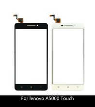 5 Smart Phone Touch Panel Sensor For Lenovo A5000 Touch Screen Digitizer Panle Front Glass Lens Touchscreen + 3m sticker