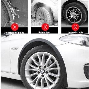 Image 4 - Guardabarros anticolisión para rueda de coche, 2 uds., 1,5 m, Universal, protección de goma para coche, pegatinas para rueda de coche
