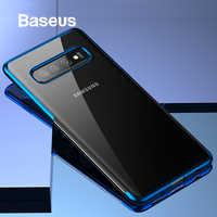 Baseus Cassa Del Telefono di Lusso per Samsung S10 S10 + Ultra Sottile Placcatura Cassa Molle Del Silicone per Samsung Galaxy S10 S10 + Copertura Del Telefono Capa