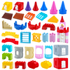 Big Building Blocks Princess Castle Houses Build Accessories Wall Roof Compatible Large Bricks Assemble Girl Boy Toys Kids Gifts