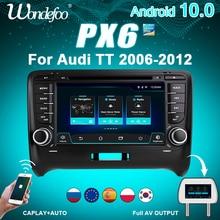 Autoradio 2ディンアンドロイド10車ラジオPX6アウディtt MK2 8J 2006 2012 2DIN自動オーディオ車ステレオナビゲーション画面マルチメディア