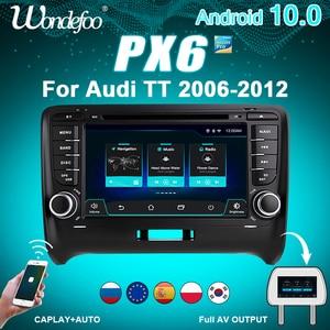Image 1 - Autoradio 2 DIN Android 10 car radio PX6 For Audi TT MK2 8J 2006 2012 2DIN auto audio Car stereo navigation screen multimedia