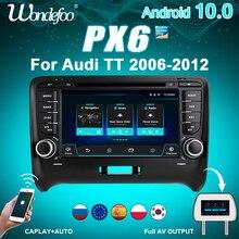 Radio 2 DIN Android 10 radio samochodowe PX6 dla Audi TT MK2 8J 2006 2012 2DIN auto audio samochodowe stereo nawigacji ekran multimedialny