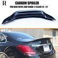 R Стиль углеродное волокно заднее крыло для Mercedes Benz W205 C180 C200 C300 C43 & C63 AMG Седан 4 двери 2015-2022