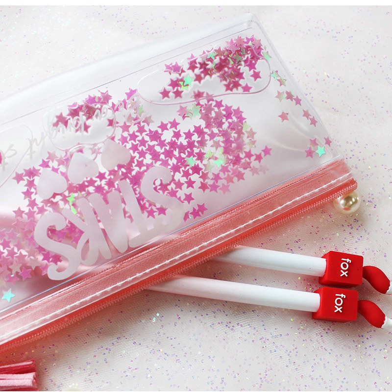 Kawaii Pencil Case Star Transparent Gift Estuches School Pencil Box Pencilcase Pencil Bag School Supplies Office Stationery