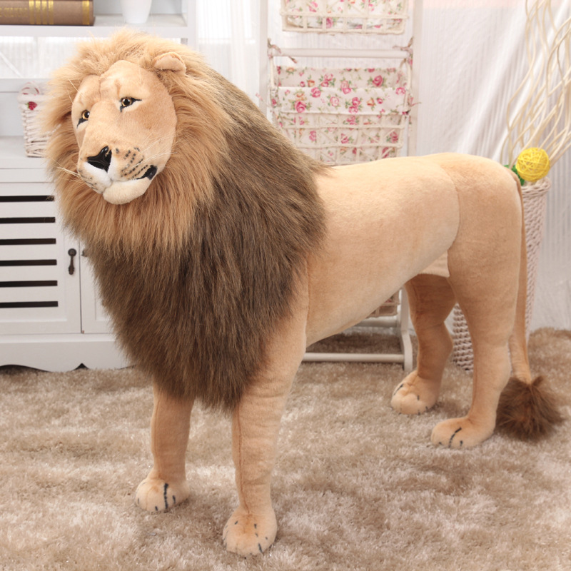Huge Stuffed Toys Simulated Lion Large Plush Toys Children High Quality Lion Stand Christmas Gift Home Decoration 1.1m AA50MR - 6