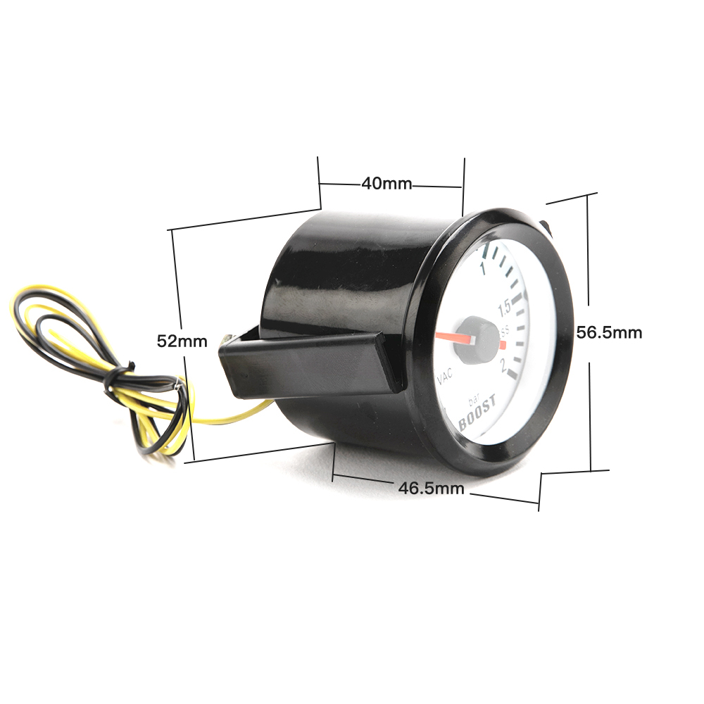 """Image 5 - Dragon автомобильный измерительный прибор 2 """"52 мм Бар турбо Boost Gauge 1 ~ 2 бар/ 30 ~ 30 фунтов/кв. дюйм вакуумный пресс метр для авто синий светильник черный обод 12 В-in Измерители наддува from Автомобили и мотоциклы"""