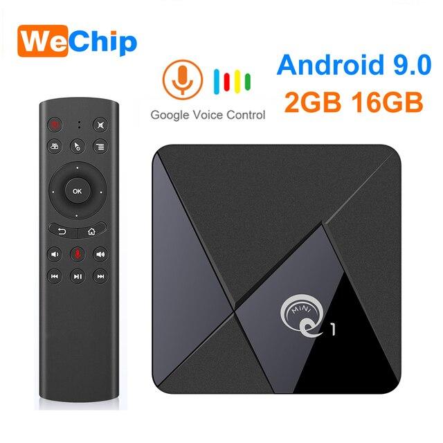 Thông Minh Android 9.0 TV Box Q1 Mini Rockchip RK3328 GB RAM 16GB Truyền Thông 2.4 WiFi Hỗ Trợ Thoại Từ Xa android Tivi Box Set Top Box