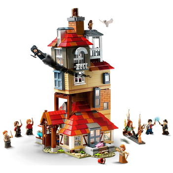 NEW 2021 Potter Magic Movie Attack On The Burrow Building Blocks Kits Bricks Set Classic Model Kids Toys For Children Gift image