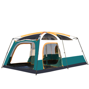 Image 3 - 5 10 Person Outdoor Camping Double Layer Tent Two Bedrooms Waterproof Big Space Family Tent