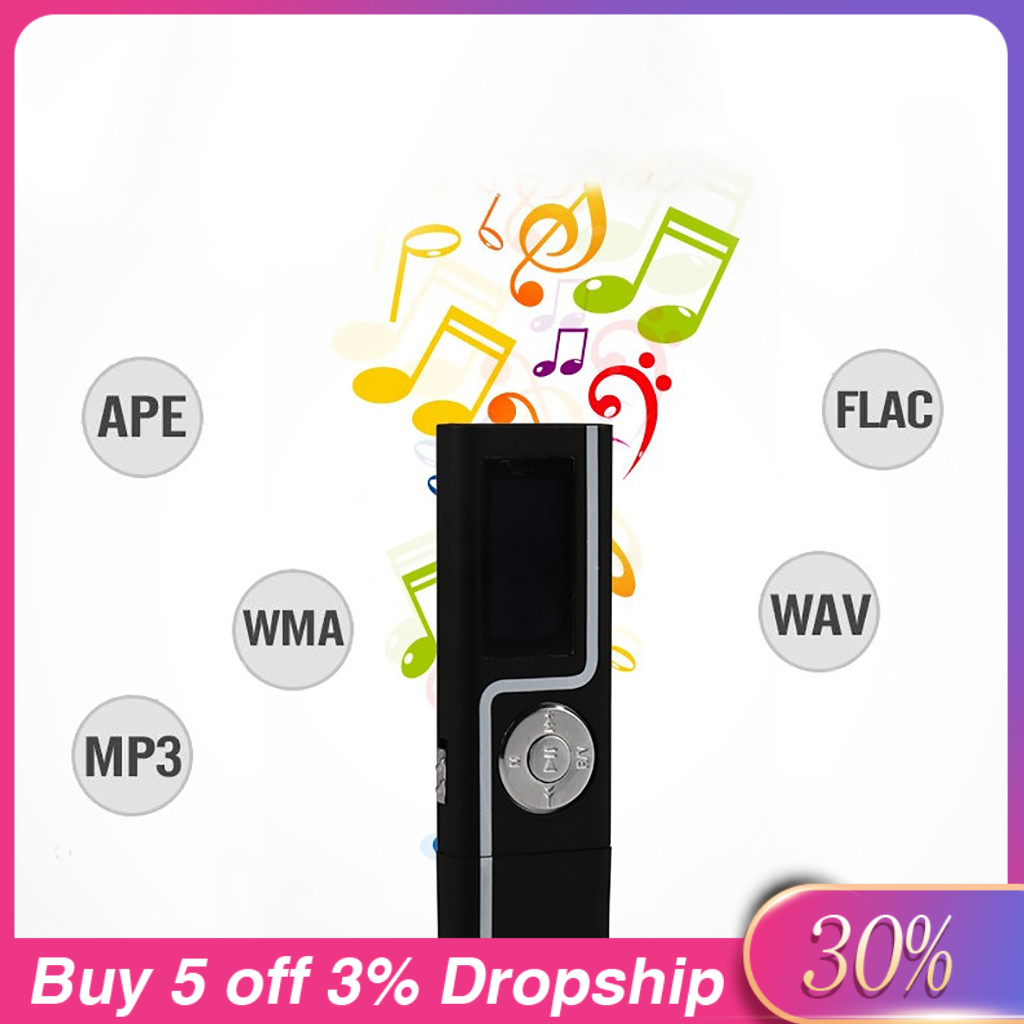 MP3 Pemain Langsung Ke USB Port Ekspansi Soket Kartu 32GB MP3 Musik Player Video Player Portabel walkman dengan Radio