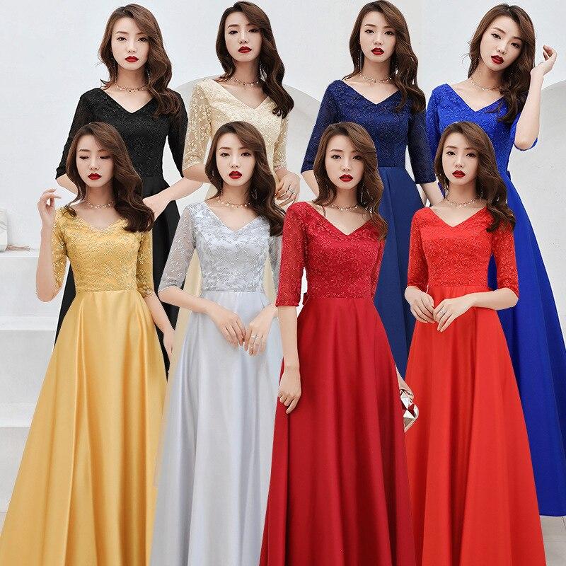 2020 Top Fashion Vestido De Noiva Adult Chorus Long 2020 New Autumn Bridesmaid Dress Toast Party Temperament Evening Female
