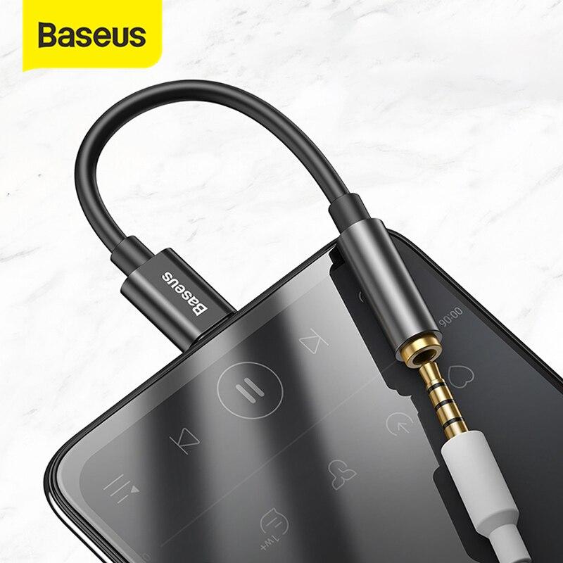 Baseus L54 Type c à 3.5mm AUX écouteurs adaptateur casque usb c à 3.5 prise audio écouteur câble adaptateur pour Xiaomi mi 9 8