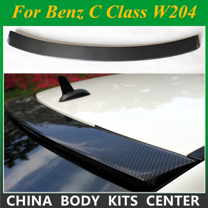<font><b>Mercedes</b></font> <font><b>W204</b></font> Carbon Fiber Roof <font><b>Spoiler</b></font> For <font><b>Benz</b></font> <font><b>C</b></font> <font><b>Class</b></font> <font><b>W204</b></font> C180 C200 C300 C260 4 Doors 2007 - 2014 Rear Roof Spo image