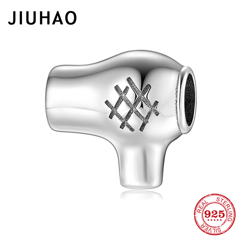 Hair Dryer 925 Sterling Silver Beads For Jewelry Making Fit Original Pandora Charm Bracelets Bangles