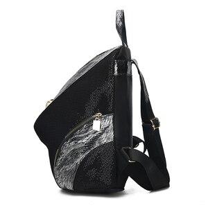Image 2 - Mochilas de moda para mujer, bolsos escolares informales para chicas adolescentes, mochila impermeable de alta calidad, bandoleras para mujer 2019